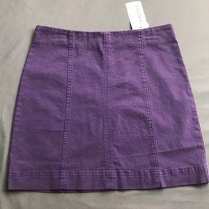 Newbury Kustom Purple Mini Skirt NWT